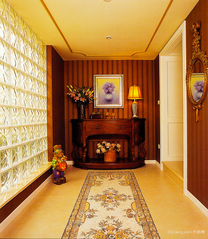 226平米复古美式风格复式楼装修效果图案例