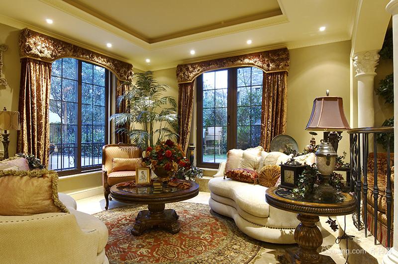 400平米欧式风格奢华大气别墅室内装修效果图案例