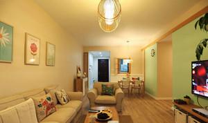 80平米田园小清新风格室内装修效果图案例