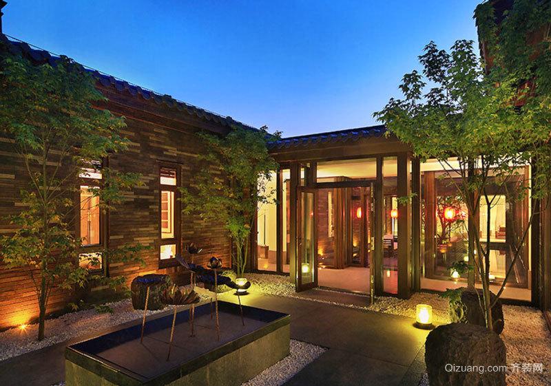 中式风格别墅花园设计装修效果图赏析
