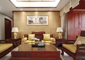 古典中式风格大户型精致典雅客厅装修效果图