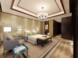 中式风格大户型精致典雅卧室背景墙装修效果图赏析