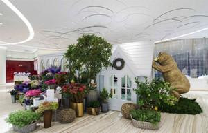 欧式风格温馨花店设计装修效果图赏析