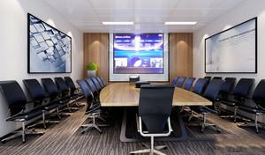 70平米现代风格多媒体会议室装修效果图欣赏