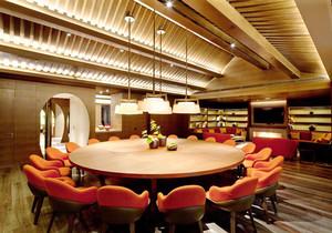 新中式风格酒店包厢设计装修效果图