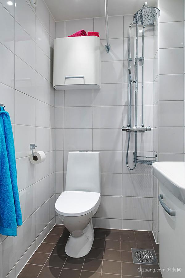 71平米北欧风格简约一居室装修效果图赏析