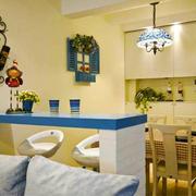 地中海风格室内精美吧台设计装修效果图赏析