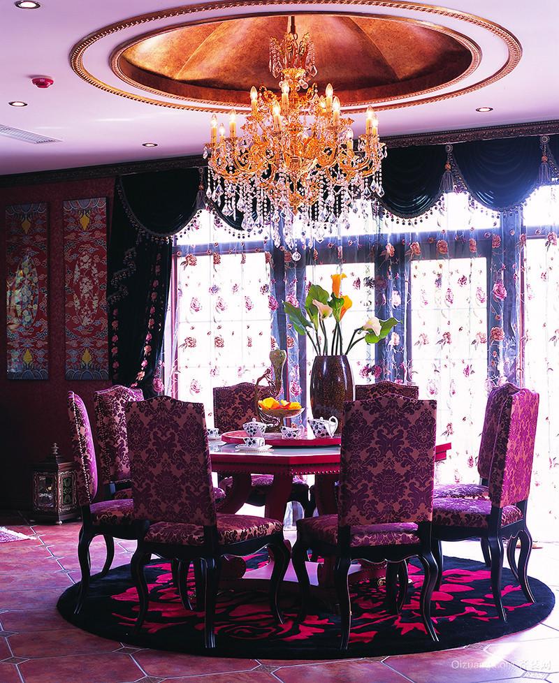 浪漫法式风格魅惑宫廷风别墅室内装修效果图案例