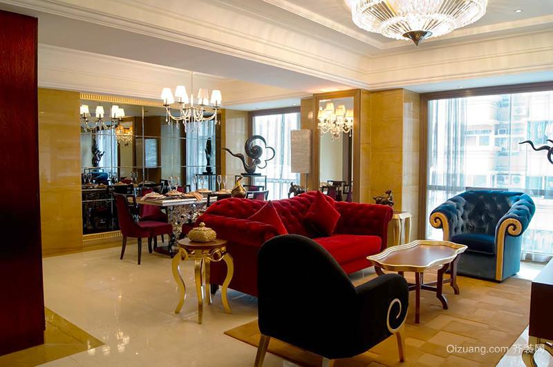 欧式复古风格精致大户型室内装修效果图案例