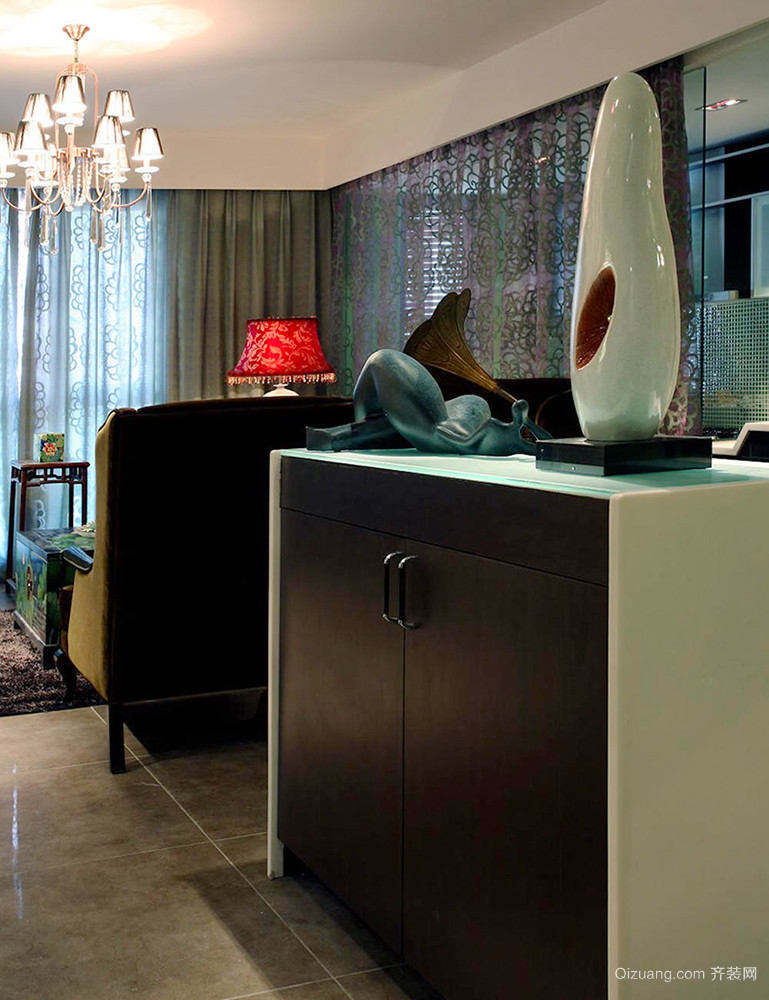 100平米古韵中式风格室内装修效果图案例