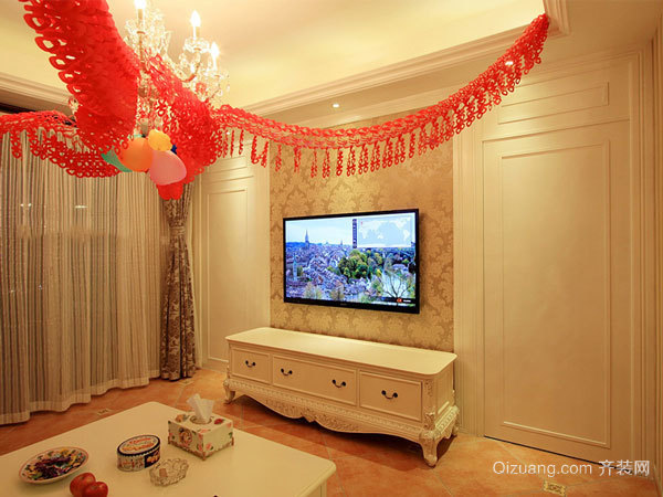 90平米简欧风格室内婚房装修效果图赏析