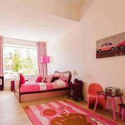 简欧风格粉色温馨公主房儿童房装修效果图