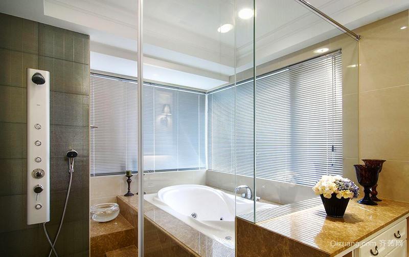 120平米简约美式风格室内装修效果图赏析