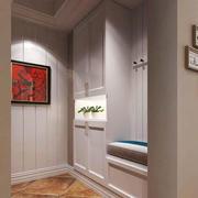 美式风格温馨两居室玄关设计装修效果图