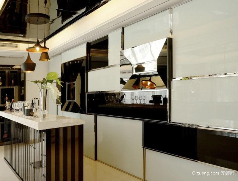 现代简约风格精致家装吧台设计装修效果图大全