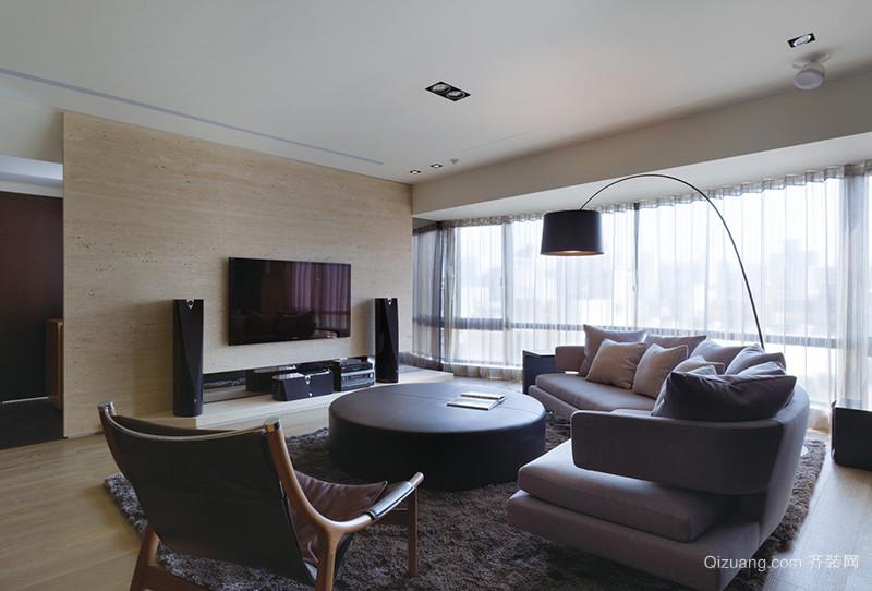 145平米现代风格深色系大户型室内装修效果图赏析