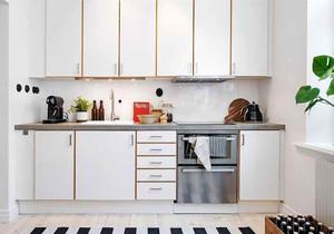 北欧风格简约纯白小户型厨房装修效果图