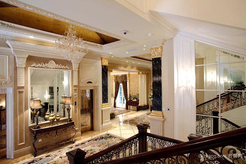 336平米新古典风格奢华别墅室内装修效果图案例