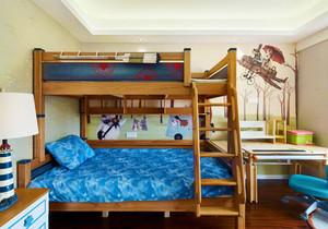 宜家风格简约双层床儿童房装修效果图赏析