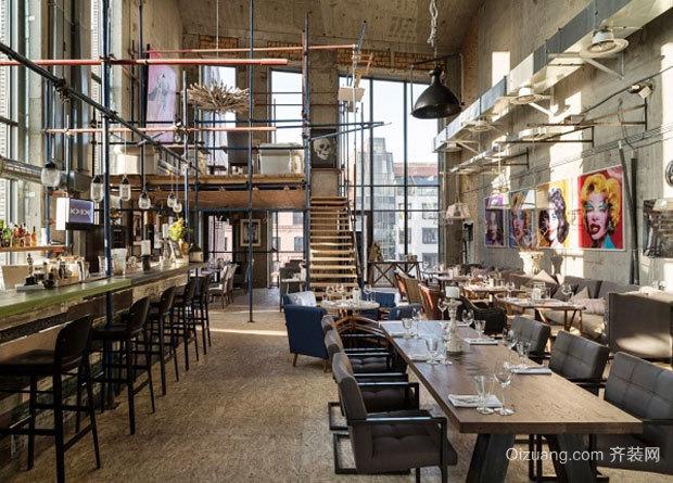 120平米混搭风格创意酒吧吧台设计装修效果图