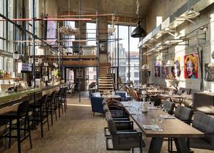 90平米后现代工业风格餐厅设计装修效果图