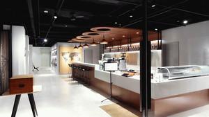 84平米现代风格文艺咖啡厅设计装修效果图