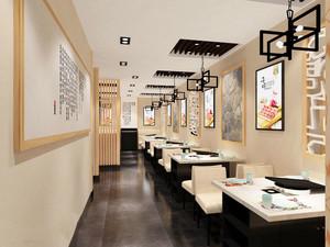 102平米中式风格烤肉店设计装修效果图