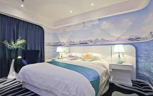 新中式风格精品酒店客房设计装修效果图