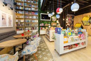 88平米现代风格温馨小型书店设计装修效果图