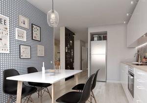 现代简约风格小户型厨房餐厅设计装修效果图赏析