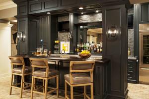 美式风格精致别墅酒柜吧台设计装修效果图