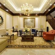 美式乡村风格别墅客厅设计效果图赏析