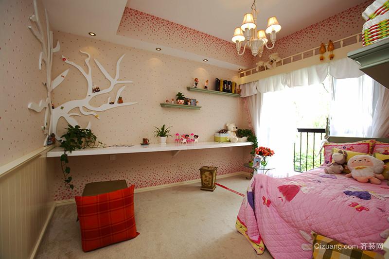 121平米美式田园风格三室两厅室内装修效果图赏析