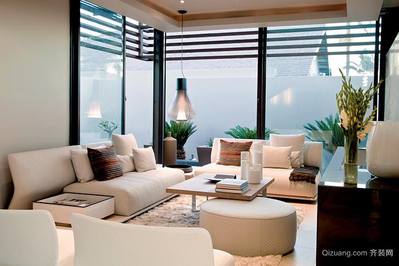 240平米现代风格轻松别墅室内装修效果图赏析