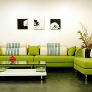 现代简约风格两居室客厅沙发装修效果图赏析
