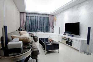 现代风格时尚白色客厅设计装修效果图