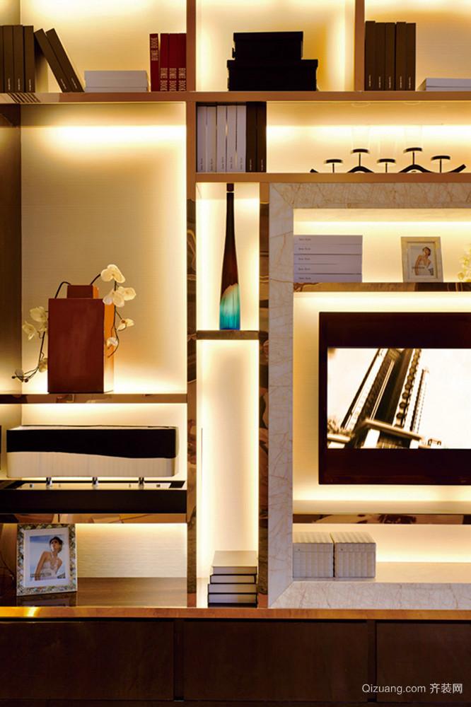 172平米新中式风格精致复式楼室内装修效果图赏析