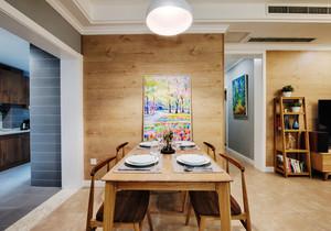 宜家风格简约实木餐厅设计装修效果图