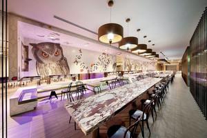 120平米后现代五星级餐厅装修效果图欣赏