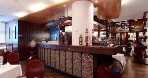 100平米中式风格自助餐厅设计装修效果图欣赏