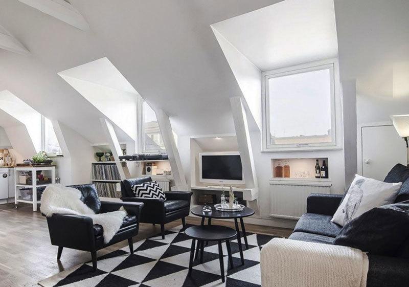 北欧风格别墅精美阁楼客厅装修效果图
