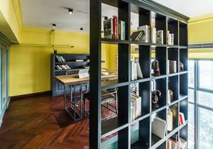 混搭风格别墅室内精致书房隔断设计装修效果图