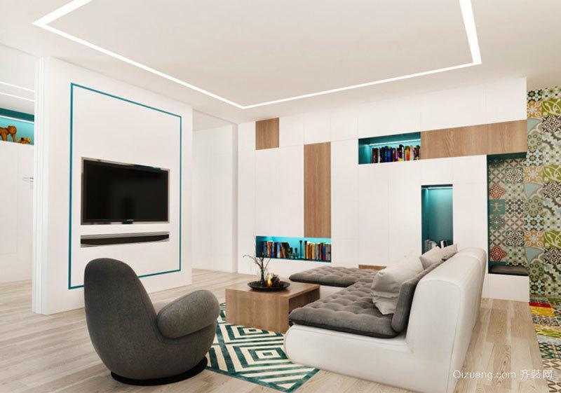 现代简约风格客厅设计装修效果图赏析