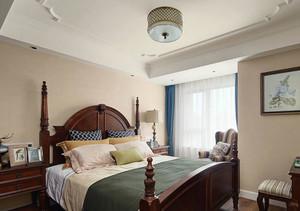美式风格三居室精致主卧室装修效果图