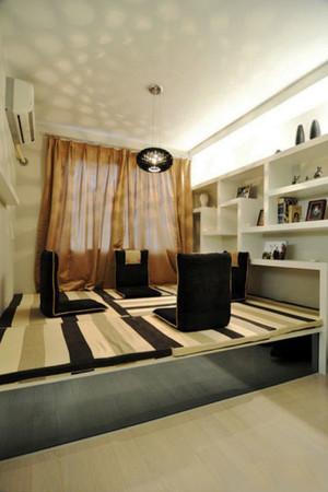 现代简约风格大户型榻榻米卧室装修效果图