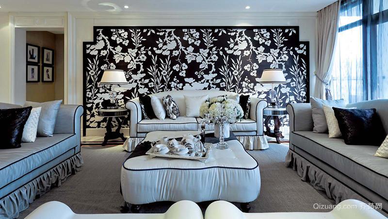 279平米欧式风格奢华大气别墅室内装修效果图案例