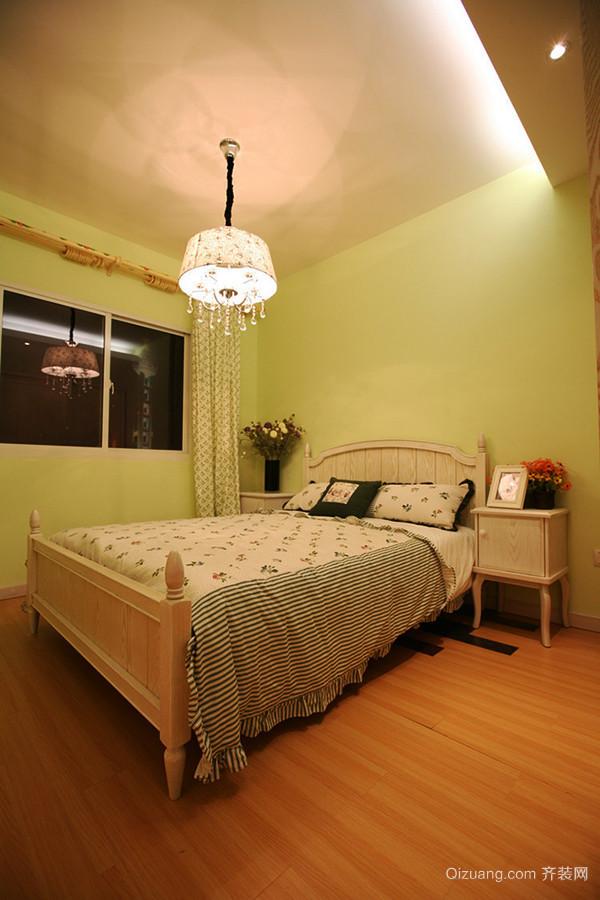 89平米田园风格温馨三室两厅室内装修效果图案例