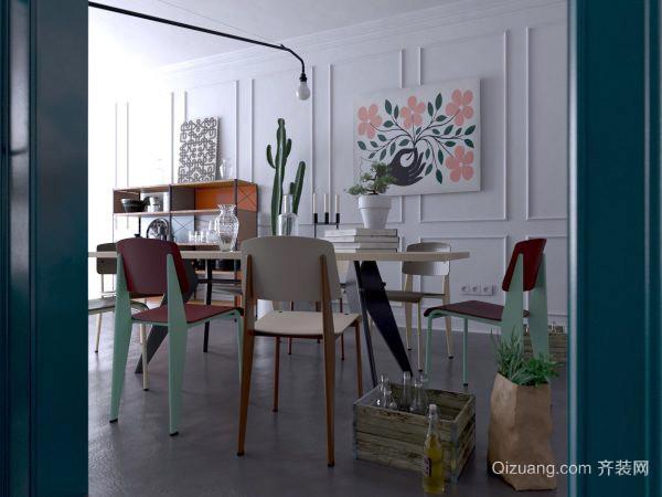 80平米现代风格自然主题公寓室内装修效果图赏析