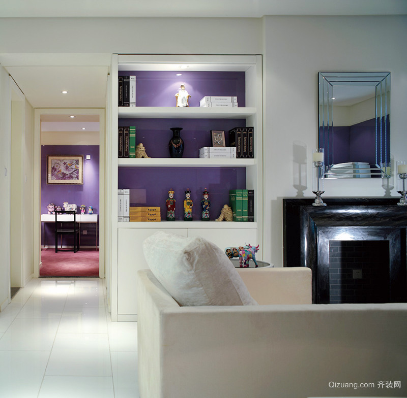106平米现代简约风格时尚靓丽三室两厅装修效果图