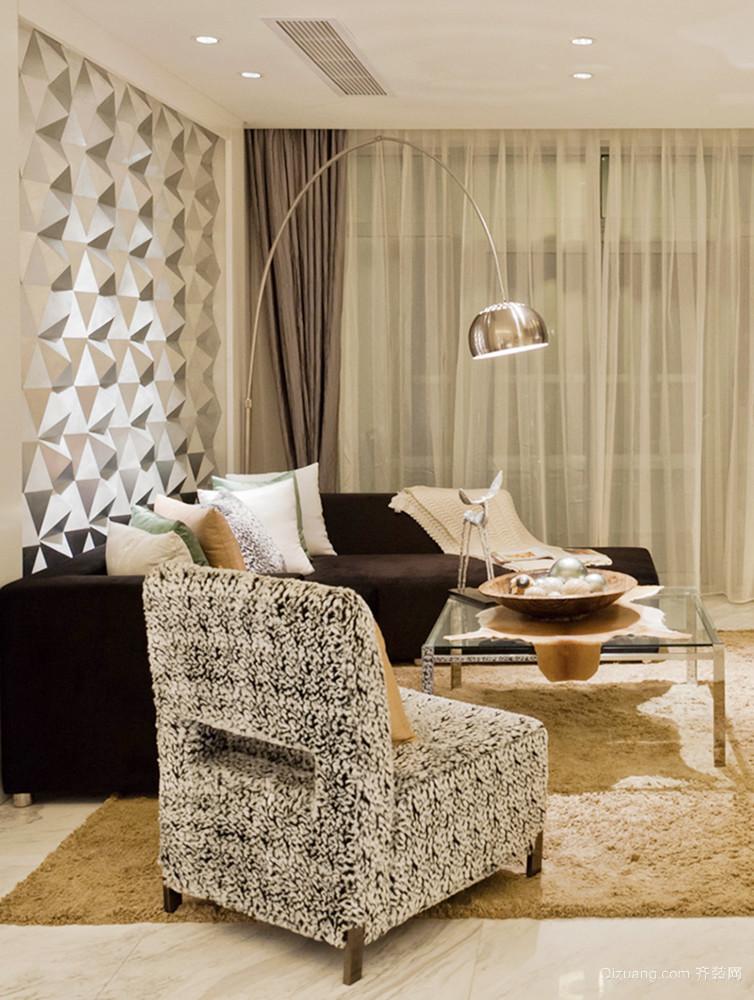 97平米现代简约风格两室两厅两卫装修效果图